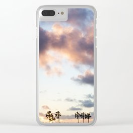 Cotton Candy Palms Clear iPhone Case