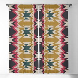 Bohemian Style Geometric Pattern Blackout Curtain