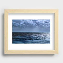 Blue Ocean Ripple Recessed Framed Print