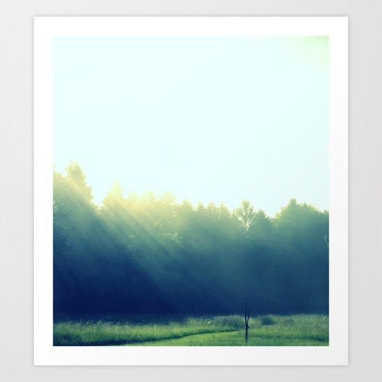 In the Misty Morning Art Print