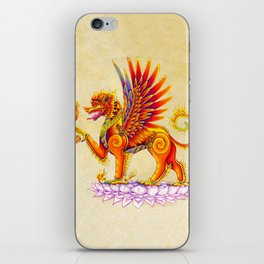 Singha Winged Lion Temple Guardian iPhone Skin