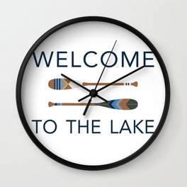 Welcome to the Lake Wall Clock