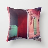 door Throw Pillows featuring Door by wendygray