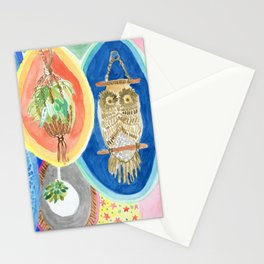 Owl Macrame Stationery Cards