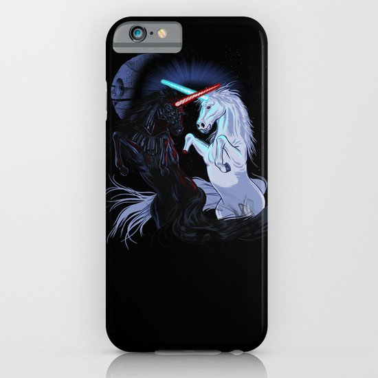 Starwars with unicorns (black) iPhone & iPod Case