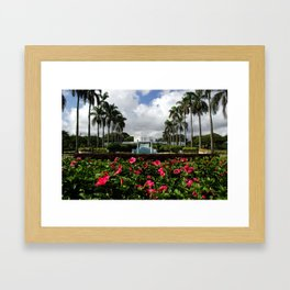 LDS Temple in Hawaii Framed Art Print