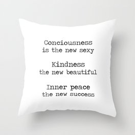 Redefining sexy, beautiful, successful. Throw Pillow