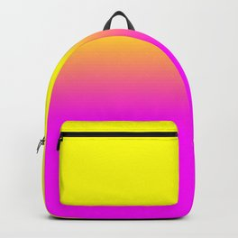 Neon Yellow and Bright Hot Pink Ombré  Shade Color Fade Backpack
