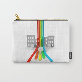 Spectrum in Town Carry-All Pouch