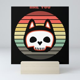 Sunset Cat / Are You Scared Now? Mini Art Print