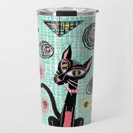 Geometric Cubist Hep Cats Travel Mug