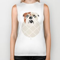 bulldog Biker Tanks featuring Bulldog by SaveTheDogs.es
