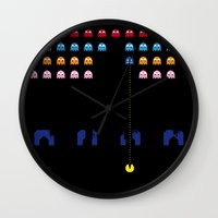 spaceman Wall Clocks featuring Spaceman by Greg-guillemin