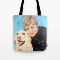best friends Tote Bags featuring Best Friends by gretzky