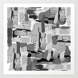 Black & White Hands Art Print