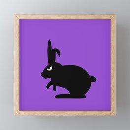 Angry Animals: Bunny Framed Mini Art Print