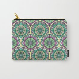 Mosaico Purple Teal Carry-All Pouch