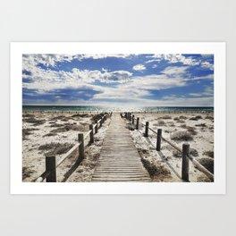 """""""To the beach..."""" Cabo de Gata Art Print"""