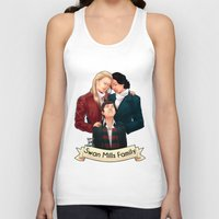 swan queen Tank Tops featuring Swan Mills family by afterlaughtersart