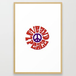 Love and Peace 9 Framed Art Print