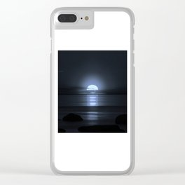 Sunset modified to look like the Moon Clear iPhone Case