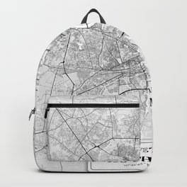 Ho Chi Minh, Vietnam City Map with GPS Coordinates Backpack
