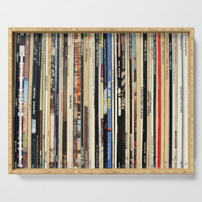 Classic Rock Vinyl Records Serving Tray