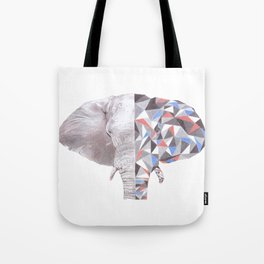 Geometric Elephant Tote Bag