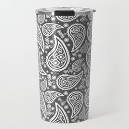 Paisley (White & Grey Pattern) Travel Mug