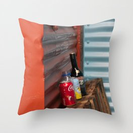 Cans and Bottle Granville Island Throw Pillow