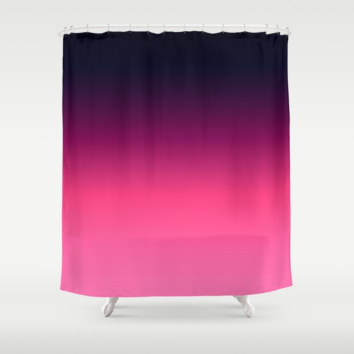 Eggplant Purple Pink Ombre Gradient Shower Curtain By Vintageappeal623