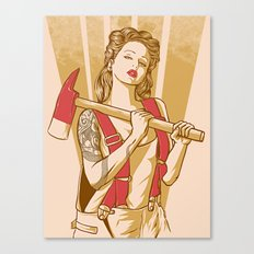 axe girl Canvas Print