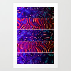 Bio Rhythm II (Five Panels Series) Art Print