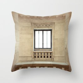 Inside the New York Public Library Throw Pillow
