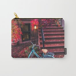 New York City Brooklyn Bicycle and Autumn Foliage Carry-All Pouch