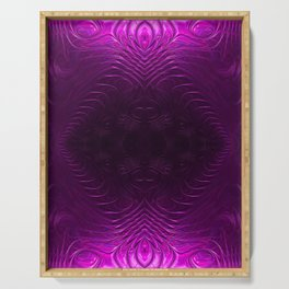 Amethyst Medallion Fractal Abstract Serving Tray