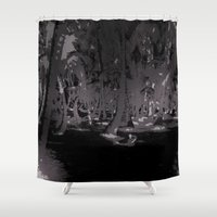 palms Shower Curtains featuring Palms by Carloe