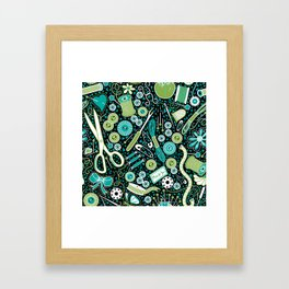 Mosaic Sewing Notions Framed Art Print