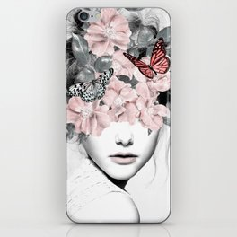 WOMAN WITH FLOWERS 10 iPhone Skin