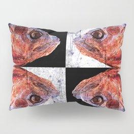 Dead Fish Face Abstract Four Mummy Pillow Sham