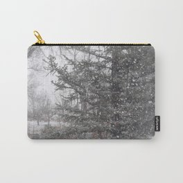 Soft snow falling Carry-All Pouch