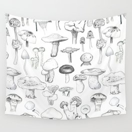 The mushroom gang Wall Tapestry