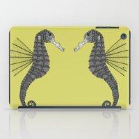 sea horse iPad Cases featuring Sea Horse by Amanda James