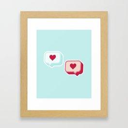 Heart Chats Framed Art Print