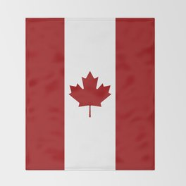 Canada: Canadian Flag (Red & White) Throw Blanket