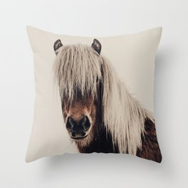 Hi, I'm a Scottish Horse Throw Pillow