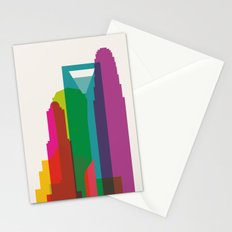 Shapes of Charlotte accurate to scale Stationery Cards