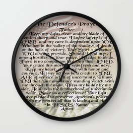US Marine Corps - Defender's Prayer Wall Clock