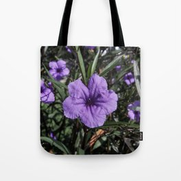 Purple Flower Bloom Tote Bag