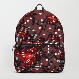 Red dice Backpack